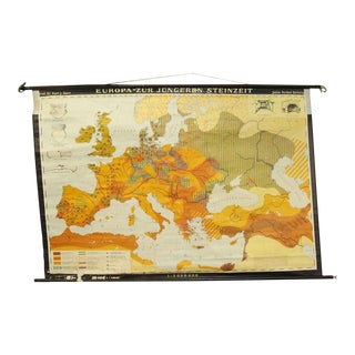 Europa Zur Jungeren Steinzeit Map For Sale
