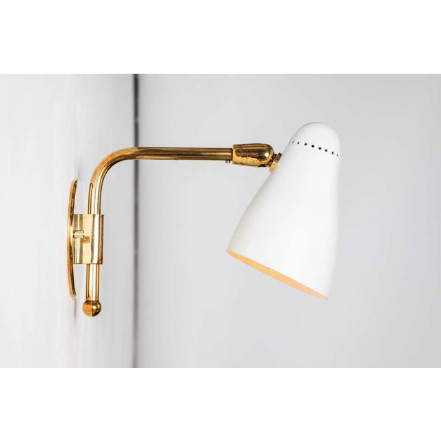 Metal 1950s Giuseppe Ostuni Articulating Arm Sconces for O-Luce - a Pair For Sale - Image 7 of 13