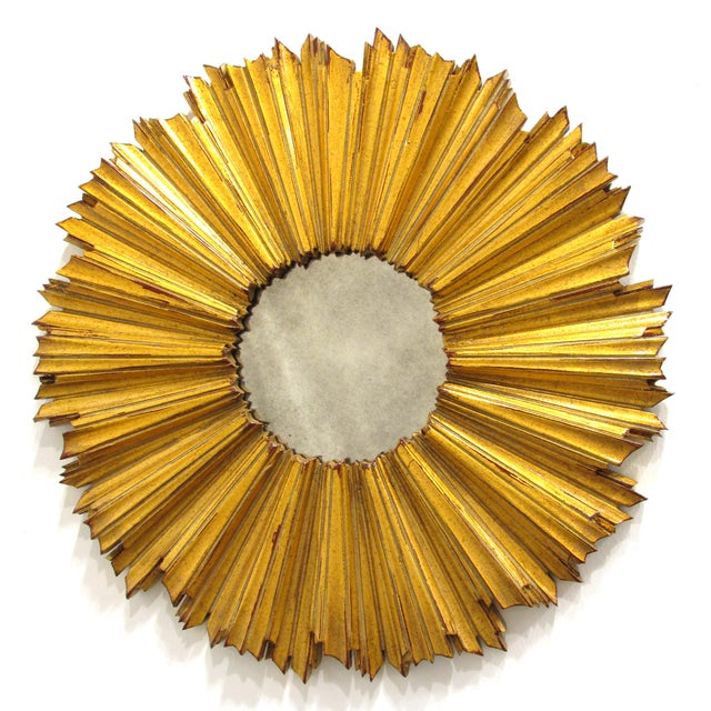 Round Gilded Sunburst Mirror - Image 2 of 7