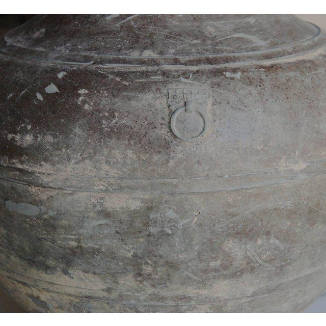 15th Century & Earlier Large Chinese Han Dynasty Period Unglazed Vase as Table Lamp For Sale - Image 5 of 9