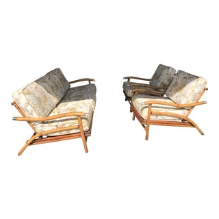 Bamboo Sofa & Chairs - Set of 3 For Sale