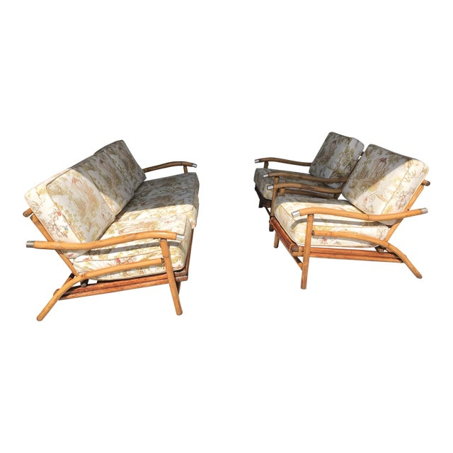 Bamboo Sofa & Chairs - Set of 3 - Image 1 of 7