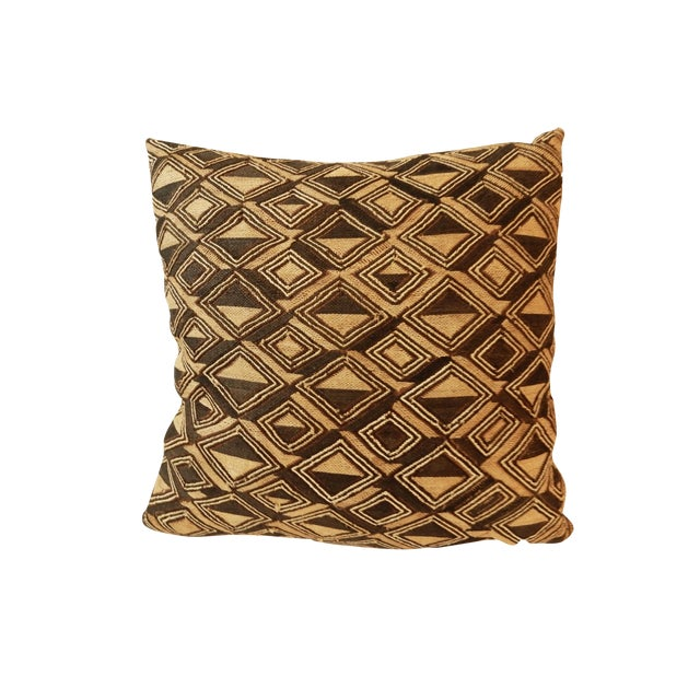 African Kuba Textile Pillow For Sale