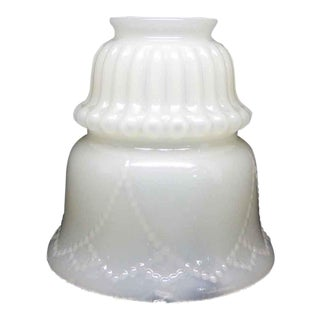 White Glass Vaseline Shade For Sale