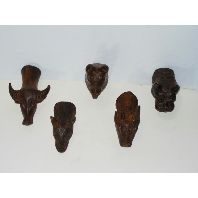 Carved Wood Chinese Zodiac Mounts - Image 4 of 9