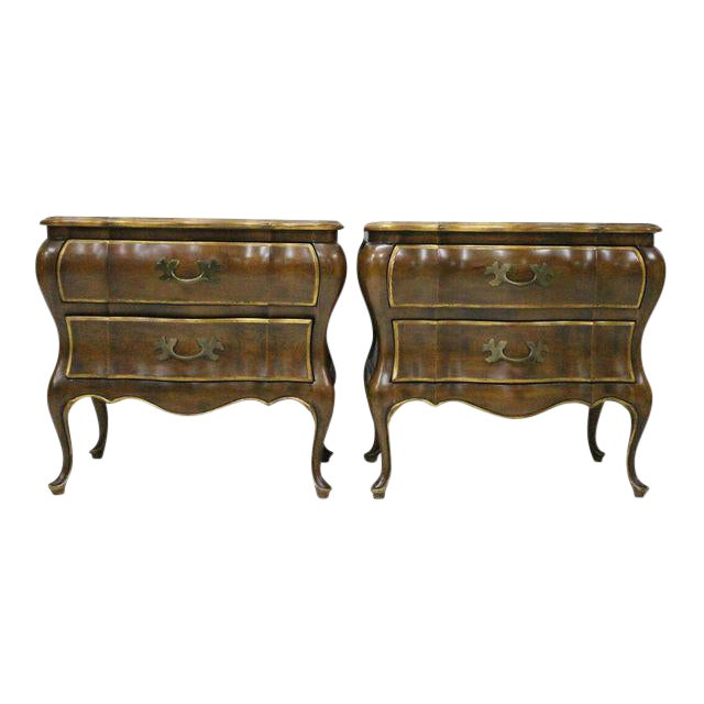 French Provincial Bombay Nightstands - A Pair For Sale