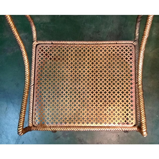 Gilt Metal Chairs - Set of 6 For Sale - Image 12 of 13