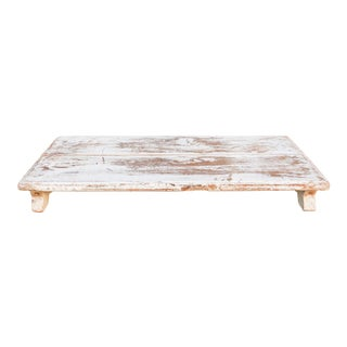 Vintage Blanca Painted Teak Bajot Table For Sale