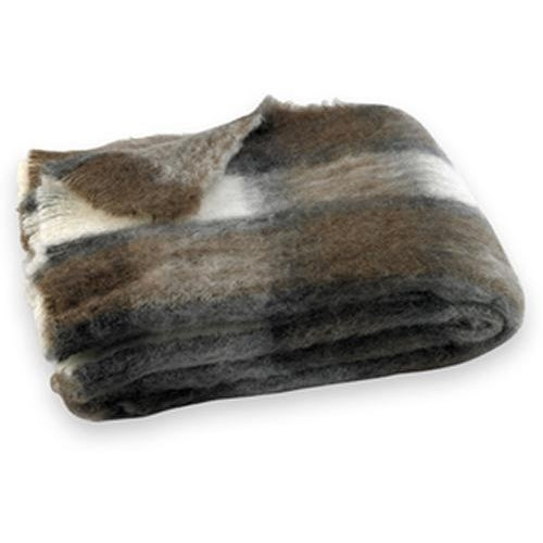 Transitional Chateau Plaid Brushed Alpaca Throw For Sale - Image 3 of 3
