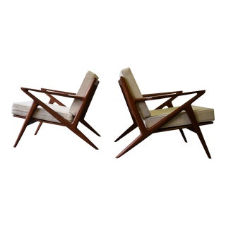 Mid Century Modern styled Teak Lounge Chairs, a Pair