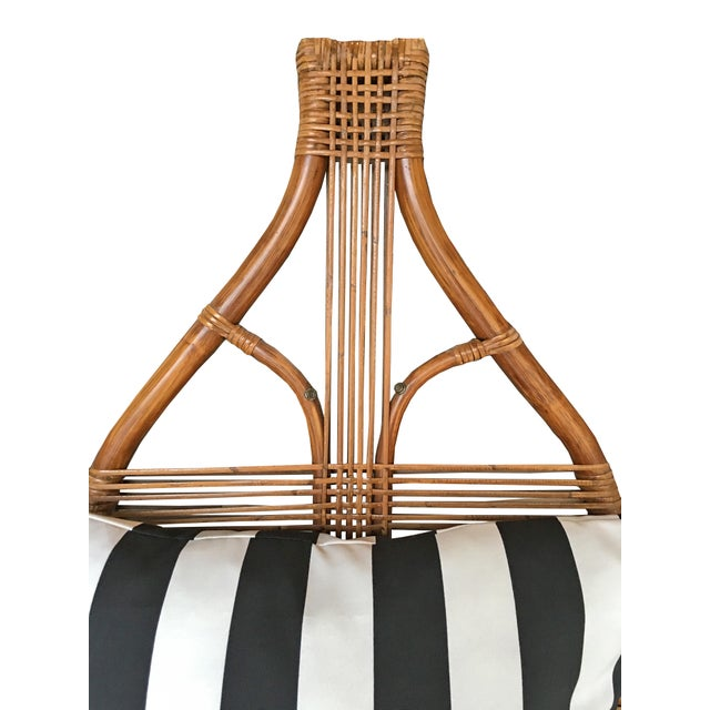High Back Rattan Throne Chairs - A Pair - Image 5 of 6