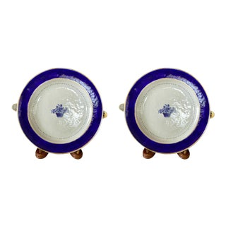 18th C. Chinese Export Warming Plates - a Pair For Sale
