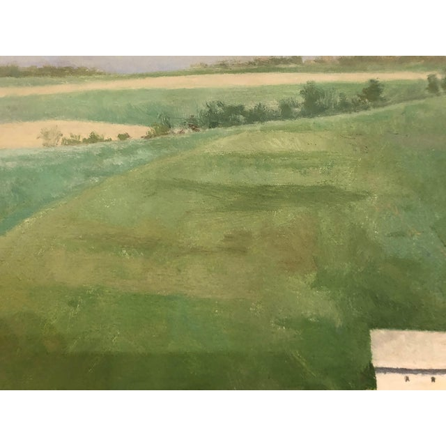 Contemporary Farm Green Landscape Painting by Peter Schor For Sale - Image 3 of 6
