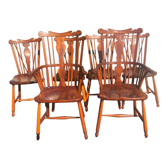 1950s Vintage L.& j.g. StickLey Dining Room Chairs - Set of 6 For Sale