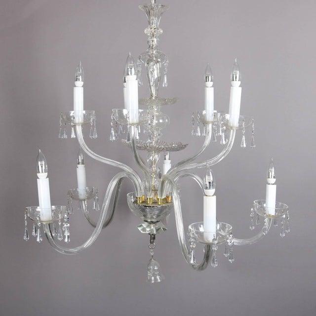 Oversized European Ten-Light Crystal Chandelier, 20th Century For Sale - Image 9 of 11