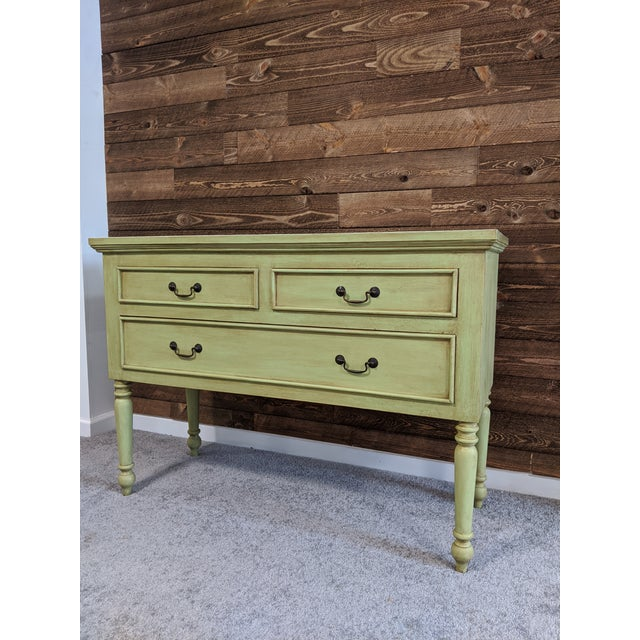 Wood 1950s Mid Century Green Chest With Drawers For Sale - Image 7 of 13