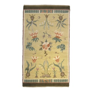 """Mid 20th Century Swedish Pile Rug - 4'8""""x 8'3"""" For Sale"""