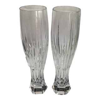Arctic Lights Mikasa Pilsner Crystal Glasses - a Pair For Sale