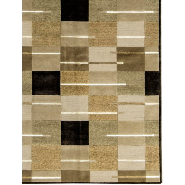"Contemporary Contemporary Hand Woven Rug - 5'8"" x 8' For Sale - Image 3 of 3"
