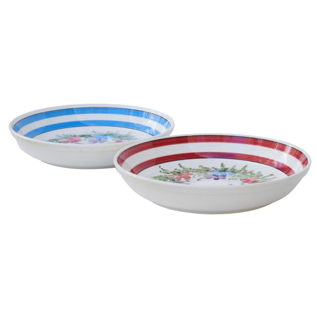 Rustic Gary Valenti Italian Ceramic Bowls, a Pair For Sale - Image 3 of 8