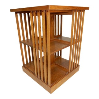 Stickley Mission Oak Revolving Bookcase For Sale