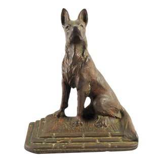 Vintage Cast Iron German Shepherd Door Stop