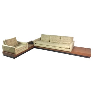 Adrian Pearsall Sectional Sofa on Platform Base For Sale