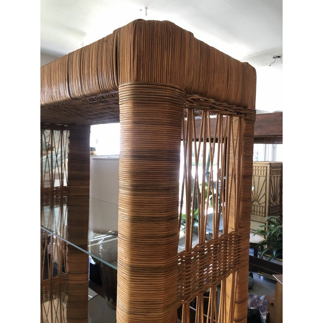 Pair Rattan Etageres From 70's For Sale - Image 9 of 10