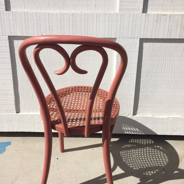 Pink Thonet-Style Cafe Chair - Image 5 of 7