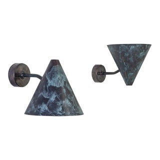 Pair of Hans-Agne Jakobsson Tratten Sconces, Sweden, 1960s For Sale