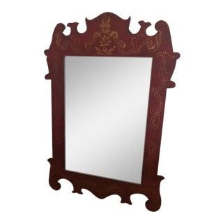 Vintage Scroll Painted Mirror