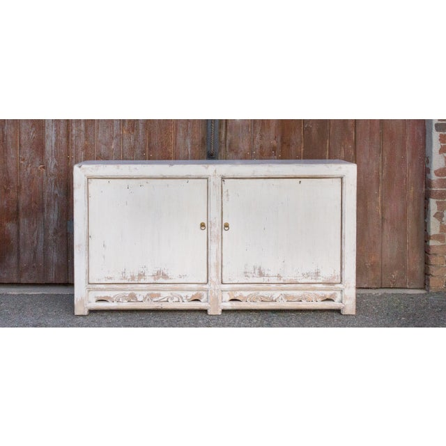 This shabby chic cabinet is the perfect piece add charm to any living room or dining room, it features an artisanal...