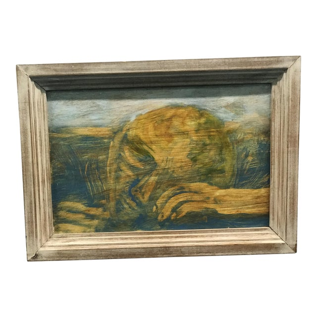 Figure in Grass Signed Oil on Board - Image 1 of 6