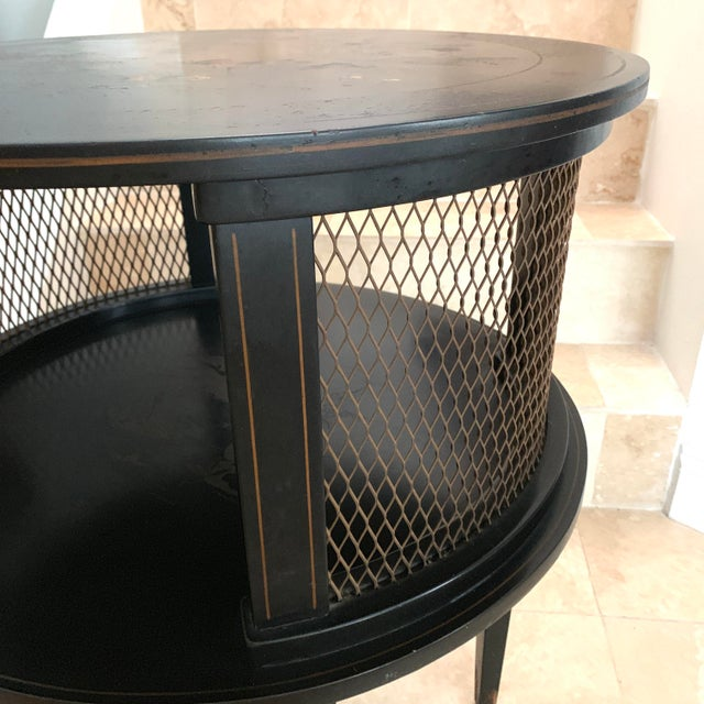 Black 1930s Signed Katherine Henick Hand-Painted Chinoiserie Side Table For Sale - Image 8 of 13