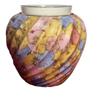 19th Century Victorian Painted Floral Porcelain Vase