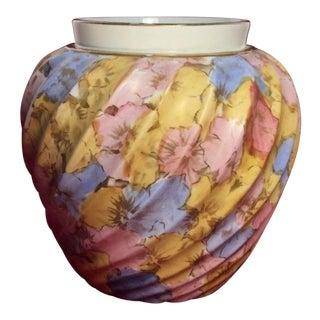 Antique 19th Century Porcelain Vase Painted Flowers J. D. Bodley Pottery Burslem England For Sale