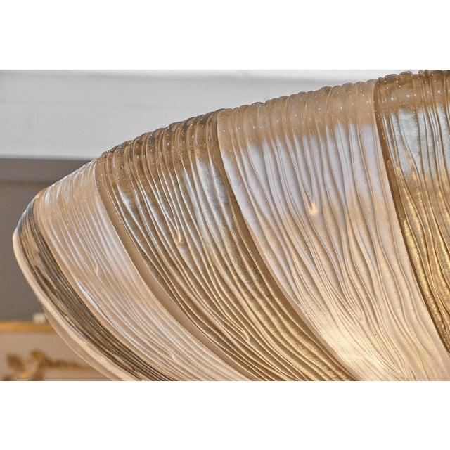 """Mazzega Murano Grand Murano """"Plafonnier"""" Glass Chandelier by Mazzega For Sale - Image 4 of 10"""