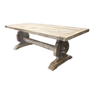 19th French Provincial Trestle Table For Sale