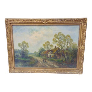 Jeremy Lettwell Canvas British Country Landscape Oil Scene For Sale