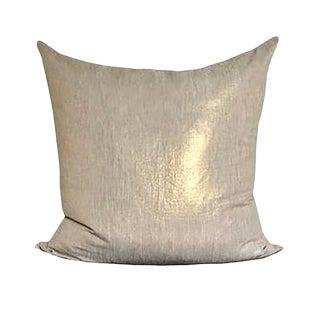 Gold Linen Pillow