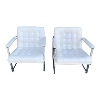 Chromcraft Mid-Century Modern Lounge Chairs - A Pair