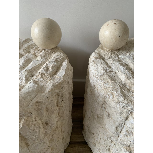 1990s Late 20th Century Mactan Stone Side Tables - a Pair For Sale - Image 5 of 12