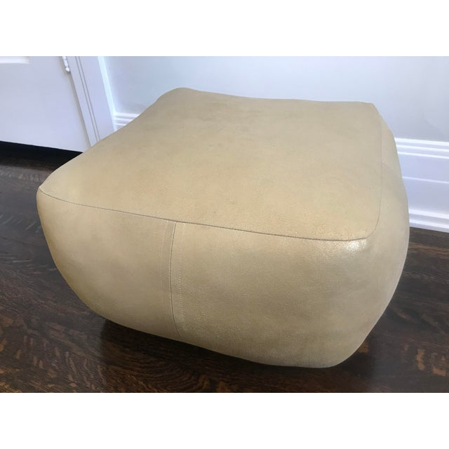 2010s Gold Metallic Leather Pouf by Dosa For Sale - Image 5 of 5
