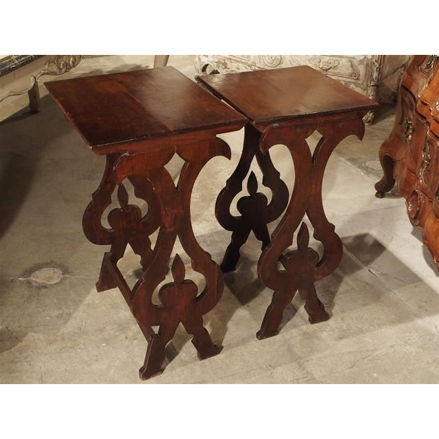 Pair of Antique Italian Nesting Tables, C. 1900 For Sale - Image 10 of 13
