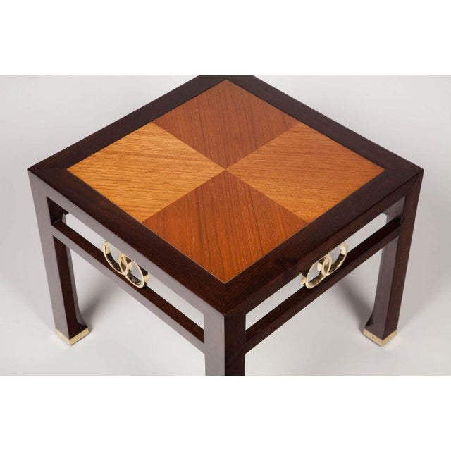 Baker Furniture Company Michael Taylor for Baker Far East Occasional Tables - a Pair For Sale - Image 4 of 5