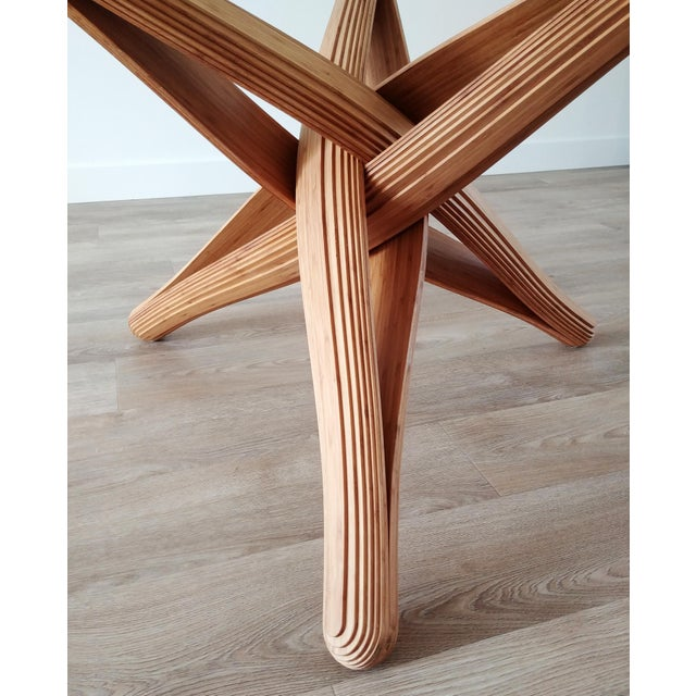 Mid-Century Modern Lock Bamboo Dining Table Base For Sale - Image 9 of 13