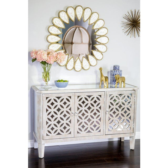 2010s Wood and Mirrored Doors Stacy Buffet For Sale - Image 5 of 6