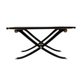 French Empire Style Ebonized Mahogany Coffee Table For Sale