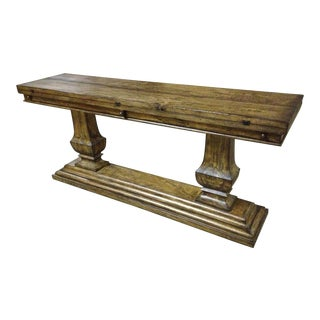 Console Table Italian Rustic Tuscan Distressed For Sale