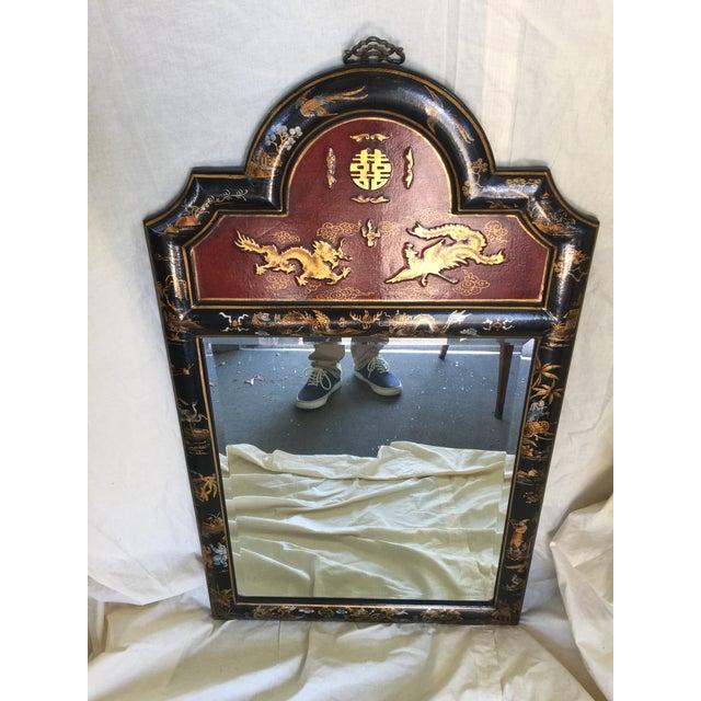 Chinese Chinoiserie Mirror - Image 2 of 6